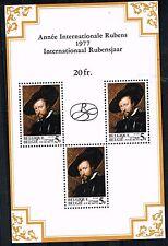 Belgium Art Rubens 400 Ann Famous Painting Souvenir Sheet 1975 MNH