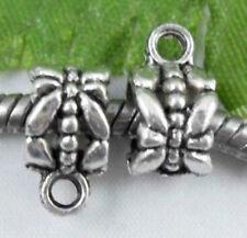 30Pcs Antique silver Beautiful Connectors Bails Findings 11.5x6mm (Lead-free)