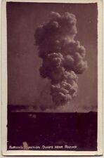 1918 PHOTO WWI BURNING MUNITIONS DUMPS RHEIMS FRANCE