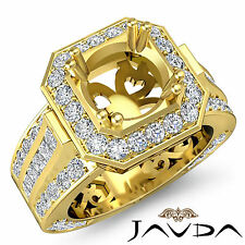 Vintage Engagement Diamond Antique Huge Ring Semi Mount 14k Yellow Gold 1.65Ct