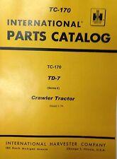 International Ih Dresser Td7e Crawler Tractor Dozer Parts Manual 9500 Amp Below