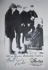 Horst Fascher autograph - Star Club Hamburg - Beatles signed