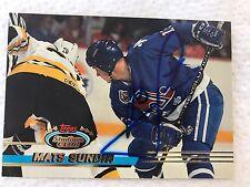 Mats Sundin Autographed Tops Card Quebec Nordiques