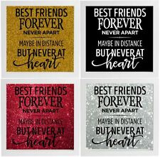 Best Friends Forever Decal Frame Wall Vinyl Glass Block