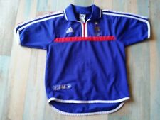 MAILLOT FOOT ADIDAS EQUIPE DE FRANCE FFF N°10 HUGO VINTAGE TAILLE 10 ans TBE