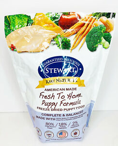 Stewart Raw Naturals Freeze Dried Puppy Food Grain Free Made in USA 3/2022