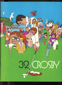1973 32th Bing Crosby 32 Golf Tournament Championship Program Pebble Beach