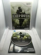 Call of Duty Modern Warfare Reflex Edition - Complete CIB -Nintendo Wii