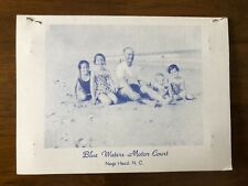 BLUE WATERS MOTOR COURT Nags Head North Carolina Vintage '60s Four Page Brochure