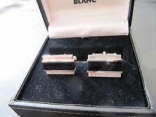 Montblanc Manschettenknöpfe Sterling Silber gestempelt Onyx