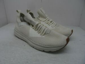 Puma Men's Enzo Beta Woven Whisper Athletic Running Shoes Off White Size 12M