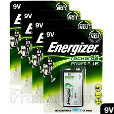 4 x Energizer Rechargeable 9V batteries Recharge Power NiMH 175mAh Block PP3