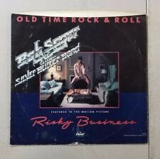 BOB SEGER  RISKY BUSINESS OLD TIME ROCK AND ROLL 45 RECORD SLEEVE ONLY V12