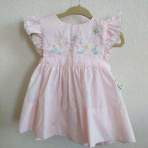 Vintage Neiman Marcus Patsy Aiken 3-Piece Pink Dress Dress Baby Size 18 mo - NWT