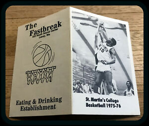 1975-76 ST MARTINS COLLEGE MENS BASKETBALL POCKET SCHEDULE FREE SHIPPING
