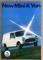 1970 British Leyland Mini-K Van original Australian sales brochure (Stamp)