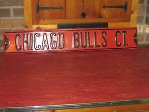 CHICAGO BULLS CT METAL STREET SIGN 36 x 6 HEAVY GAUGE METAL NEW NOS BAR MAN CAVE
