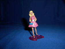 "BARBIE PINK DRESS 2.5"" Mini Plastic Figurine KINDER SURPRISE Figure MATTEL 2012"