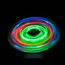 Rainbow Crystal Led Light Fidget Spinner EDC Hand Finger Gyro Toy Stress Spinner