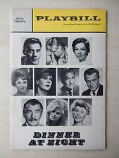 October 1966 - Alvin Theatre Playbill - Dinner At Eight - Robert Burr