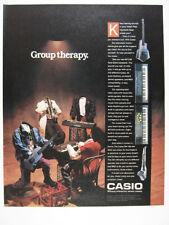 1988 Casio MT 240 520 Keyboards DG Guitar DH-100 Horn Sax vintage print Ad
