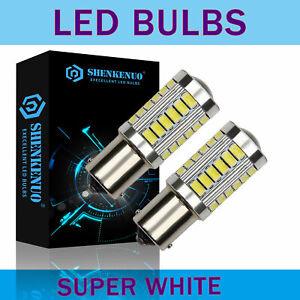 2X LED 1156 P21W White 99%Canbus Reverse Light Bulbs Side DRL Backup 382 6000K