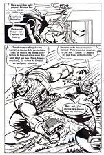 LES 4 FANTASTIQUES CONTRE CYBERMAN PLANCHE DE MONTAGE ORIGINALE PAGE 7