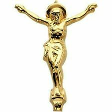 14k Yellow Gold Religious Crucifix Jesus Cross Pendant