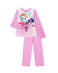 My Little Pony Girls Flannel Long Sleeve Pajama Set, 2-Piece Size 6/6x