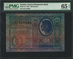 Austria 100 Kronen 1912 - PMG 65 EPQ