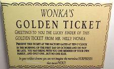 "Wonka Golden Ticket 2""x3"" Fridge or Locker MAGNET Chocolate Retro Factory"