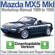 MAZDA MX5 MIATA EUNOS MKI 1989-1998 officina, Servizio E Riparazione Manuale di download