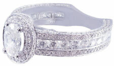 Not Enhanced Oval SI1 2.00 - 4.99 Diamond Engagement Rings