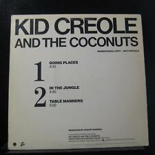 """Kid Creole And The Coconuts - Going Places 12"""" VG+ PRO-A-969 Promo Vinyl Record"""