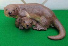 Vintage Royal Aynsley Otter Couple - Lifelike Loving Lovable