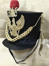 Black Hussar General Leatheret Hat With Gold Details In. 60cm