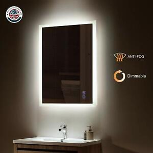 New ExBrite Slim Modern LED Vanity Bathroom Mirror Horizontal & Vertical Mount