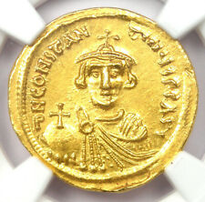 Byzantine Constans II AV Solidus Gold Coin 641-668 AD - Certified NGC MS (UNC)