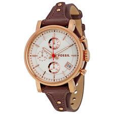 Fossil Original Boyfriend White Dial Chronograph Ladies Watch ES3616