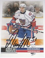 DAVID DESHARNAIS SIGNED ITG HEROES AND PROSPECTS ROOKIE CARD AUTOGRAPH AUTO!