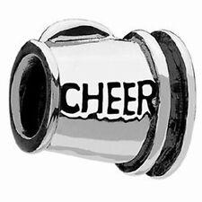 Chamilia Cheer Cheerleading Megaphone Sterling Silver Bead Charm $35 Sale $10.99