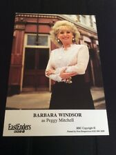 Peggy Mitchell EASTENDERS  - Barbara Windsor Cast Card Rare ❤️