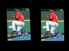 2 Nick Mutz 2014 Midwest League All Star Ft Wayne auto signed cards San Diego