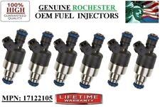 Oldsmobile Cutlass Calais 3.3L Reman <x6> OEM Rochester #17122105 Fuel Injectors