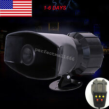 USA 12V 100W Motorcycle Car Truck Alarm 5 Sound Tone Loud Horn Siren with Mic