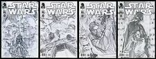 Star Wars Dark Horse 2013 Comic Set 1-2-3-4 Lot Alex Ross art Sketch Variants