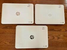 "New listing 3 units - Hp Chromebook 14 G1 White, 14"", Intel 1.4Ghz, 16Gb Ssd, 4Gb White"