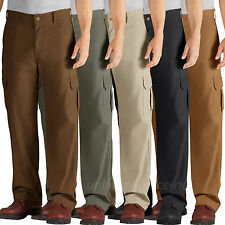 99ee6f6b935b8 Dickies Work Pants Mens Relaxed Fit Straight Leg Cargo Pocket Duck Pant  DD113