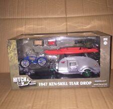 GREENLIGHT GREEN MACHINE 1:24 HITCH & TOW 1947 KEN-SKILL TEAR DROP KUSTOM KAMPER