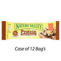 NATURE VALLEY PROTEIN PEANUT & CHOCOLATE BAR'S 40g  x 12 BAR'S GYM SNACKS 224313
